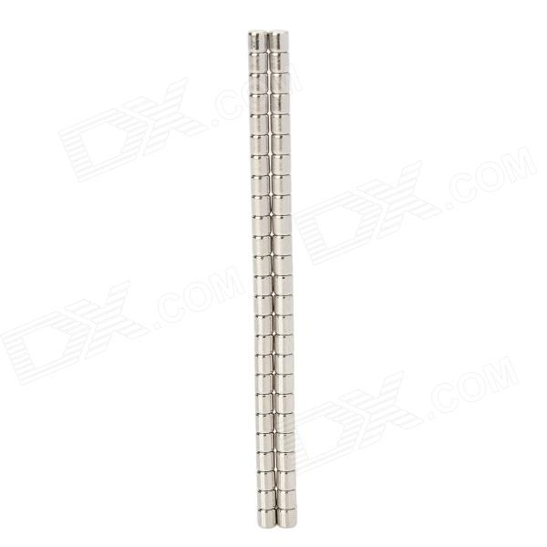 2 x 2mm Cylinderformet Magnet - Sølv (50 PCS)