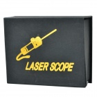 Infrared Flat Front Red Light Laser Scope for 20mm Rail Gun - Black