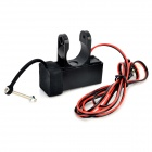 Motorcycle 12V USB Power Charging Dock for GPS / Mobile Phone + More - Black