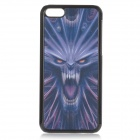 Cool 3D Ghost Pattern ABS Back Case for IPHONE 5C - Black + Blue