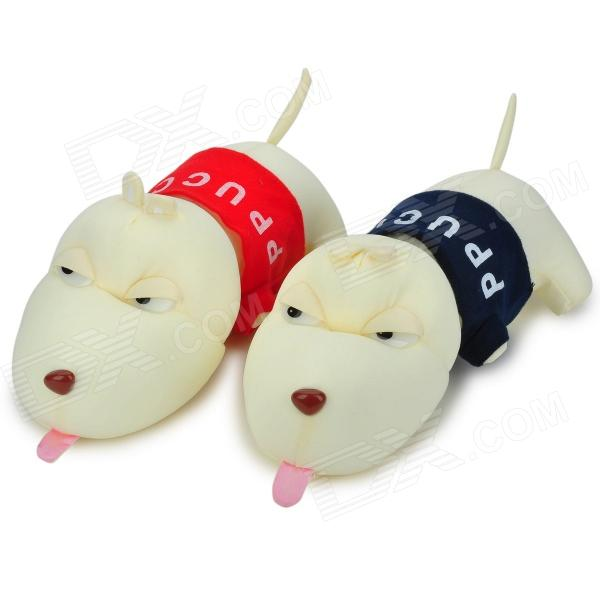 Cute Dog decorativo di bambù del carbone di legna Car Deodorante-Beige + blu + Multi-colorato (2 PCS)