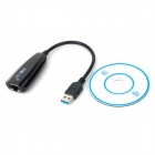 USB 3,0 1000Mbps cablata Ethernet Adapter - nero