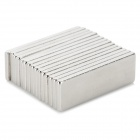 Rectangle Shaped NdFeB Magnets - Silver (15 PCS)