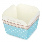 Sweet Polka Dot Muster Square Paper Cup Mould Muffin / Mousse + mehr - blau + weiß (20 Stück)