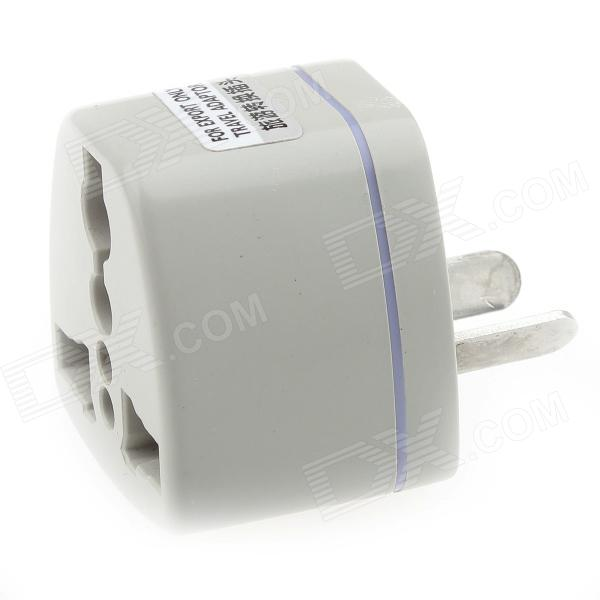 Portable Travel AC Plug Power Adapter - Grey (85~250V)