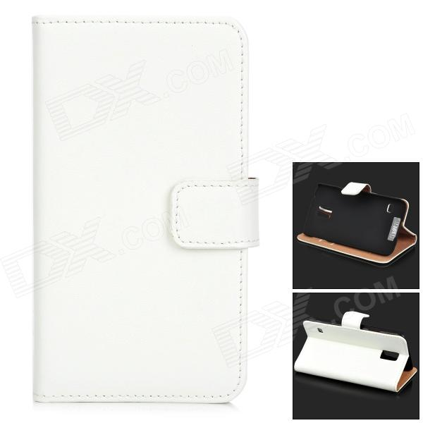 Protective Flip-open Split Leather Case w/ Card Slot for Samsung Galaxy S5 - White for sale in Bitcoin, Litecoin, Ethereum, Bitcoin Cash with the best price and Free Shipping on Gipsybee.com