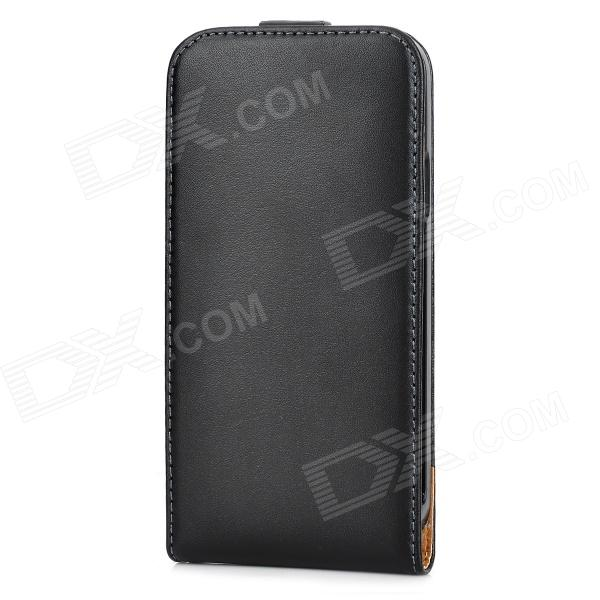 Protective Top Flip Split Leather Case for Samsung Galaxy S5 - Black