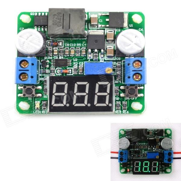 MaiTech integrato moduli voltmetro / Step-Up / Down modulo alimentatore - (verde Display / 5 ~ 25V)