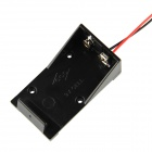 High Quality 9V 6F22 Battery Holder with Leads - Black