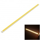 6W 480lm 3000K COB LED Warm White Light Source Module Strip - Silver + Yellow (DC 9~11V)