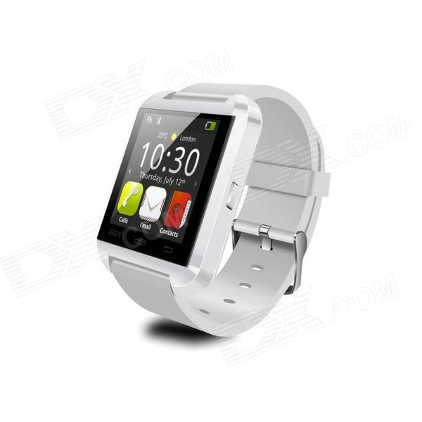 "Uwatch 8 1.48"" TFT Bluetooth Wearable Smart Sport Watch for IPHONE / Samsung / HTC - White"