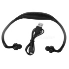 Rechargeable Sport Music Bluetooth V3.0 Headset w/ Mic - Black