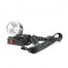 W307 3W 120lm LED Bright Headlights High-power Outdoor Fishing Lamp - Black + Silver (3 x AA)