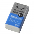 GOOP 9V 180mAh Rechargeable Ni-MH Battery - Silver + Blue