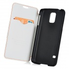LGR-S03 Protective PU Flip-Open Case w/ Card Slot / Stand for Samsung Galaxy S5 - White