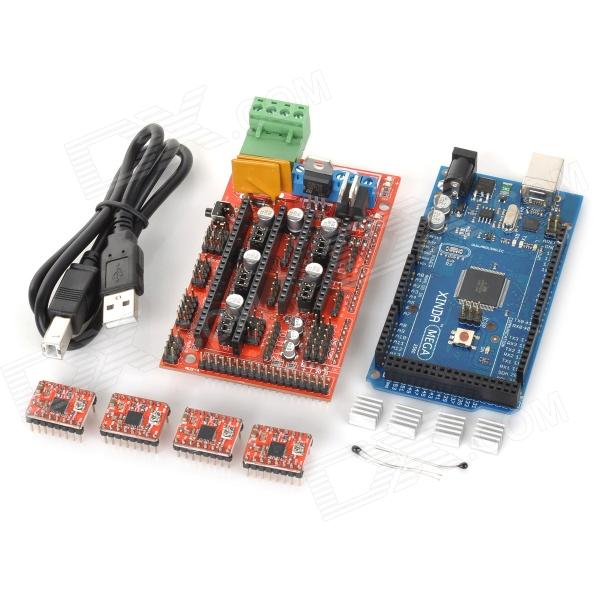3D Reprap Printer Mega2560 + Ramps1.4 + 4-A4988 Stepstick Driver Module Set for Arduino - Red