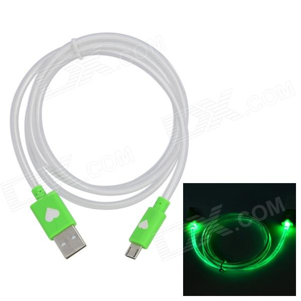 AH-28 Micro USB 5 broches vers USB 2.0 Charge / Data Cable w / Indicateur LED pour Samsung (de 100cm)