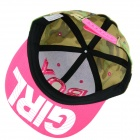 Simple BOY Letter Pattern Canvas Baseball Cap - Camouflage Green + Deep Pink