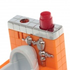 Fashion Toilet Style Butane Jet Gas Lighter - Orange + White + Red