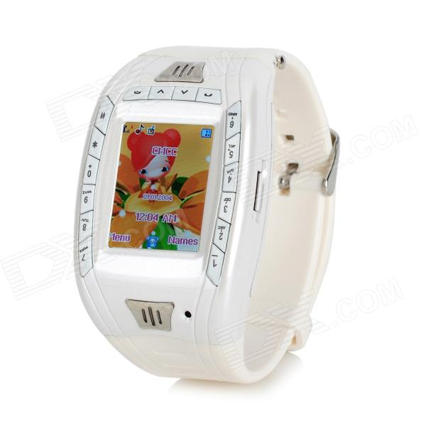 "AK11 GSM Wrist Watch Phone w/ 1.33"" Screen, Triple-band and Bluetooth V2.0 - White"