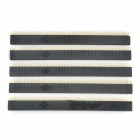 LSON 2.54mm 1 x 40P Pins - Black + Golden (5 PCS)