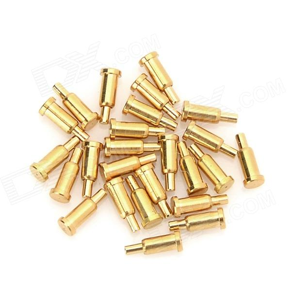 LSON 2.0 x 5.0mm Gold-Plated Copper Pins - Golden (25 PCS)DIY Parts &amp; Components<br>BrandLSONModelN/AQuantity25 DX.PCM.Model.AttributeModel.UnitForm ColorGoldenMaterialGold-plated copperEnglish Manual / SpecNoOther FeaturesUsed to conduct and energize the electricityCertificationN/APacking List25 x Pins<br>