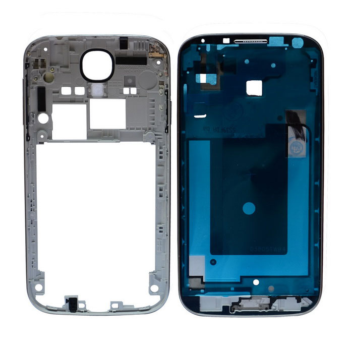 Buy Repair Part Replacement Front Plate + Medium Plate for Samsung Galaxy S4 i9500 - Silver with Litecoins with Free Shipping on Gipsybee.com