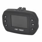 "DK630 Mini 1.45"" TFT Screen 5.0MP Wide Angle CMOS Car Camcorder w/ 12 Night Vision Lights - Black"
