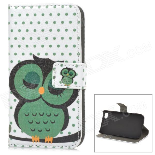 A-55 Owl Pattern Protective PU Leather + Plastic Case for IPHONE 4 / 4S - White + GreenLeather Cases<br>Form  ColorWhite + GreenModelA-55Quantity1 DX.PCM.Model.AttributeModel.UnitMaterialPU leather + plasticShade Of ColorWhiteCompatible ModelsIPHONE 4,IPHONE 4SStyleFlip OpenDesignAnimal Skin Texture,Card SlotPacking List1 x Case<br>