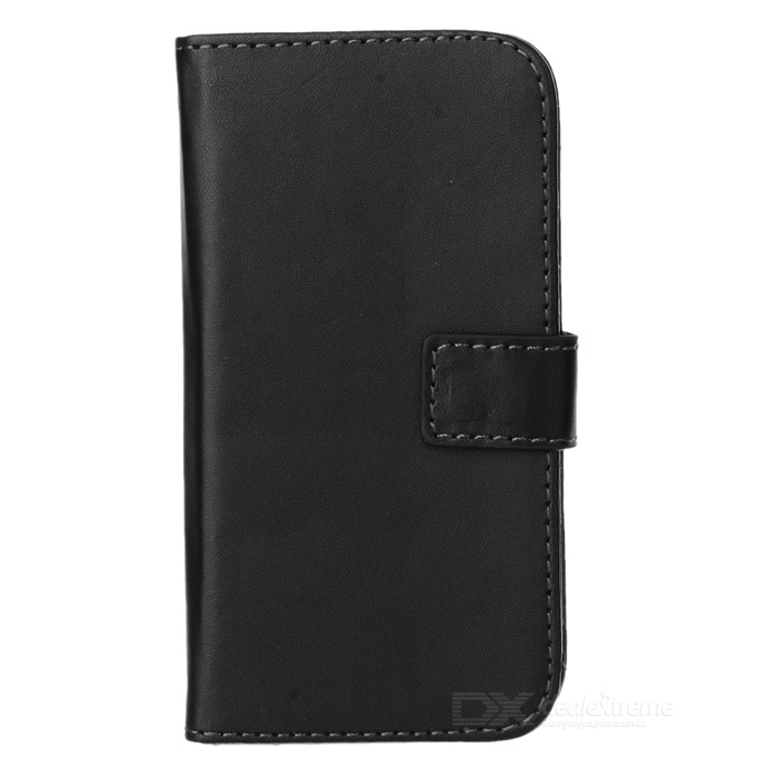 PUDINI WB-MOTOG Protective Flip Open PU Leather Case w/ Stand / Card Slots for MOTO G - Black
