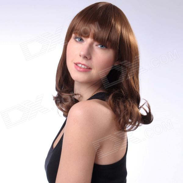 Capless Long High Quality Synthetic Hair Wig - Coffee