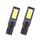 T10 7.5W 525lm COB LED White Car Steering / Signal Light / Headlamp / Clearance / Instrument Lamp