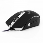 sfida-u USB Wired 500/1000 / 2000dpi mouse ottico di gioco LED-Nero