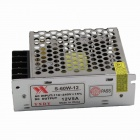 S-60W-12 AC 110-220V to DC 12V 5A 60W Switching Power Supply - Grey + Silver