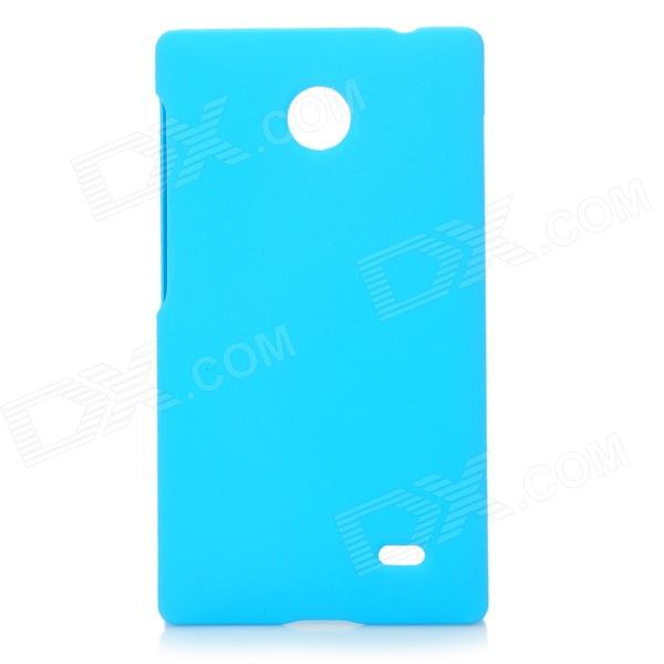 Protective Plastic Matte Back Case Cover for Nokia X - Light Blue