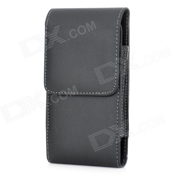S5-BK-S Convenient Waist Belt Mount PU Case w/ Clip for Samsung Galaxy S5 - Black