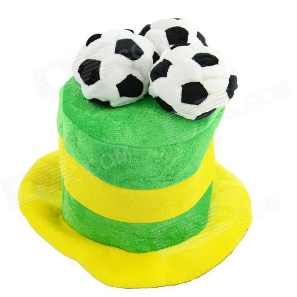... OUMILY 2014 Brazil World Cup Cotton Polyester Hat - Yellow + Green ... 604288fa8a50