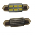 Girlande 36mm 3W 300lm 6 x SMD 5630 LED weißes Auto Leselicht / Dachlampe - (2 PCS / 12V)