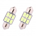 Festoon 31mm 3W 270lm 6 x SMD 5630 LED Ice Blue Light Car Auto Reading Lamp / License Plate Light