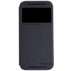 NILLKIN Protective PU Leather + PC Case Cover for HTC New One M8 - Black