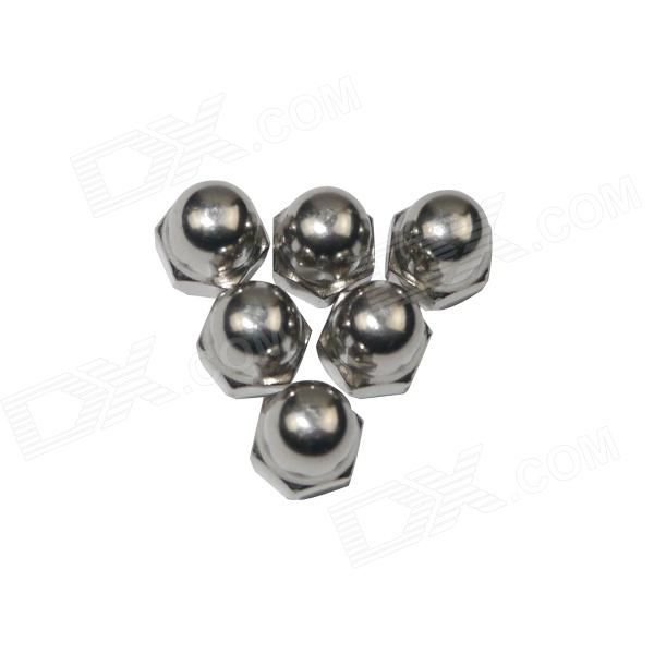 Standard M5 Screw Caps for GoPro Hero 4/2/3/3+, SJ4000 - Silver (6PCS)