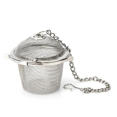 Useful Mini Stainless Steel Tea Filter - Silver