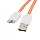 Micro USB 9-Pin to USB 3.0 Charging/Data Cable for Samsung Galaxy S5 - Orange + White (98cm)