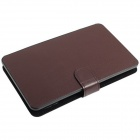 "Micro USB collegato tastiera PU pelle + custodia plastica Cover Stand per 7"" ~7.85"" Tablet PC - marrone"