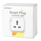 Kankun KK-SP3 Wi-Fi Remote Control Socket for IPHONE / Android Cellphone - White (100~265V)