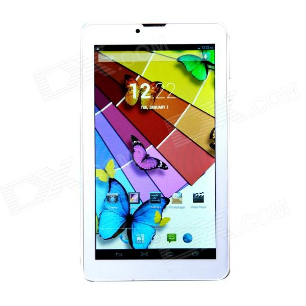 "Q7 7.0"" Quad Core Android 4.2.2 3G Phone Tablet PC w/ 1GB RAM, 8GB ROM - White"