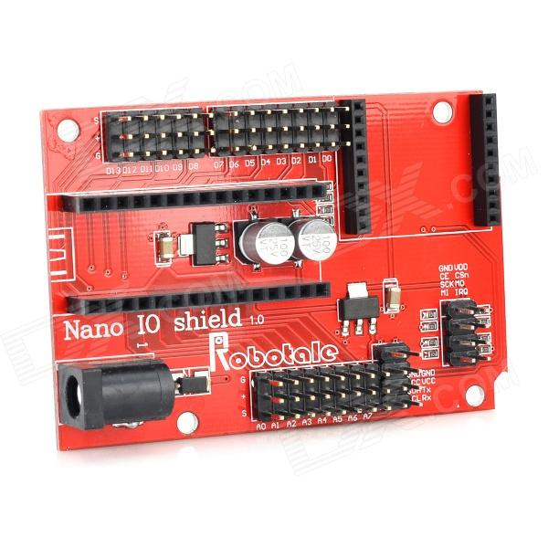 Nano 328P IO Sensor Wireless Expansion Board - Red (Works with Official Arduino Boards)