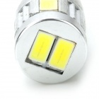 T10 3W 200lm 6-LED White Light Car Instrument / Reading / Door /Clearance Lamp - (12~24V / 2 PCS)
