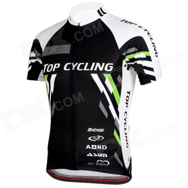 TOPCYCLING SAD209 Men's Outdoor Cycling Short Jersey Clothes - Black + White (Size M/Xl/Xxl)