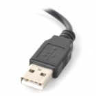 USB Female to 90 Degree Micro USB Male + USB Male OTG Cable for Samsung / HTC (10cm / 20cm)